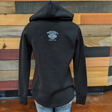 Load image into Gallery viewer, Women's Bar & Shield Hoodie Back