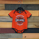 Classic Bar & Shield Onesie Front