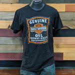 Men's Chipped Oil Can Label T-Shirt Front