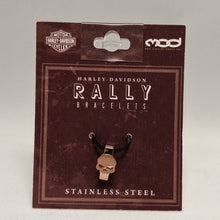 Load image into Gallery viewer, Willie G. Skull Rally Bracelet Charm Rose Gold in Packaging