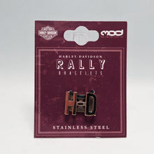 Load image into Gallery viewer, H-D Rose Gold Rally Bracelet Charm in Packaging