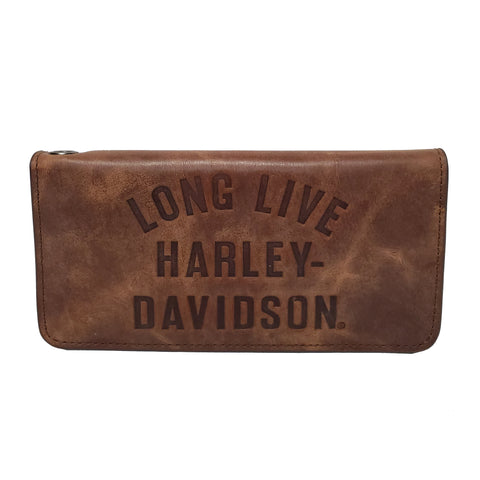 H-D Brown Leather Wallet