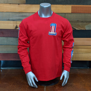 Distressed Number 1 Long Sleeve Shirt