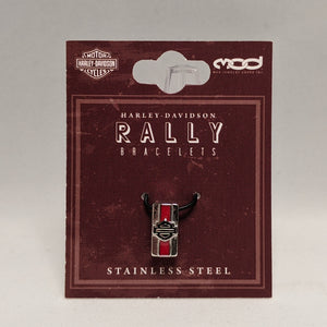 Bar & Shield Rally Charm Red in Packaging