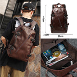 Men Vintage Backpack Comfortable Laptop Backpack Designer School Bag Male PU Leather Travel Bags Large Capacity Rucksack Bag