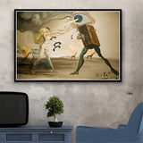 Home Decoration Wall Art Canvas Painting Retro Psychedelic Salvador Dali Pictures Nordic Style Prints Modular Poster Living Room
