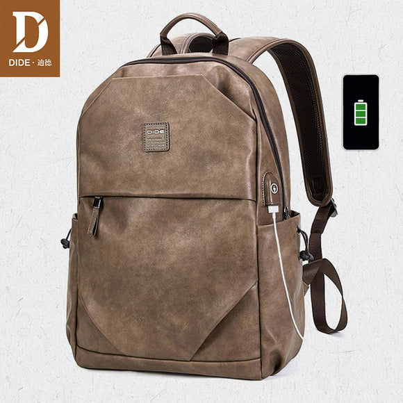 DIDE 2020 New 15 inches Backpack bag male backpack laptop waterproof Luxury brand back pack school bags leather backpack men