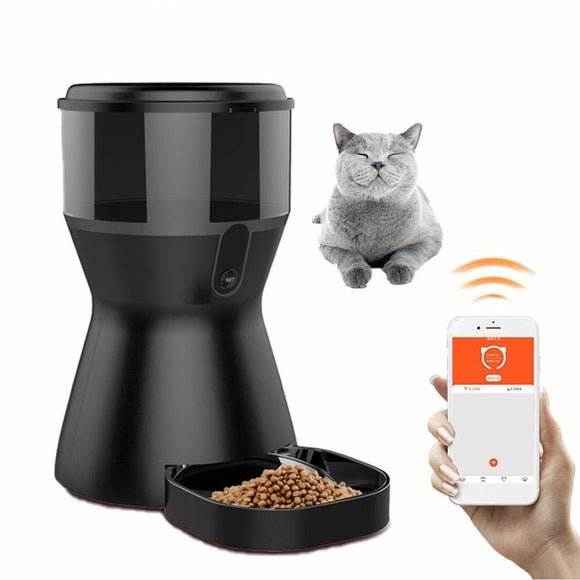 4L Automatic Pet Feeder with  WiFi, Video, Remote Monitoring, Timing with Camera.