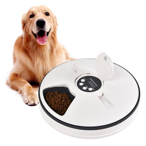 Smart Automatic Pet Feeder with Timer program, 6 Meals Food Dispenser , For Dog, Cat and Rabbit