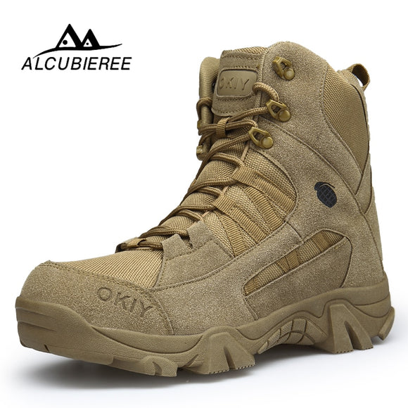 2020 Winter Boots Men Warm Snow Boots Men High Quality Winter Military Boots Men Leather Shoes Men Cow Suede Work Waterproof