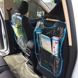 2PCS  PVC Car Seat Back Protection Cover  Automatic Kicking Foot Dirty Storage Pad Car Universal Children Anti-play Mat