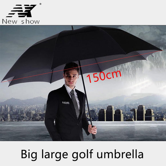 NX Creative Large double layer golf umbrella 145cm to 150cm umbrella men windproof strong long umbrellas for men business
