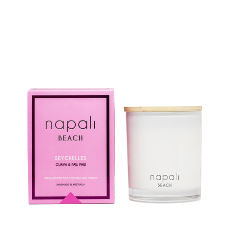 Beach - Seychelles Guava & Paw Paw -Small & Deluxe Maison Jar