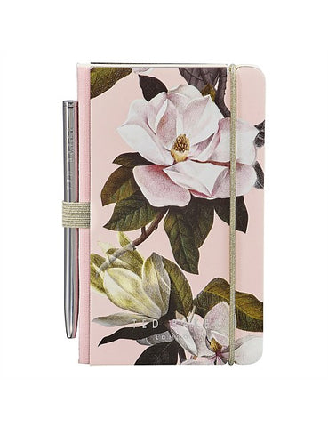 TED BAKER MINI NOTEBOOK & PEN OPAL PINK