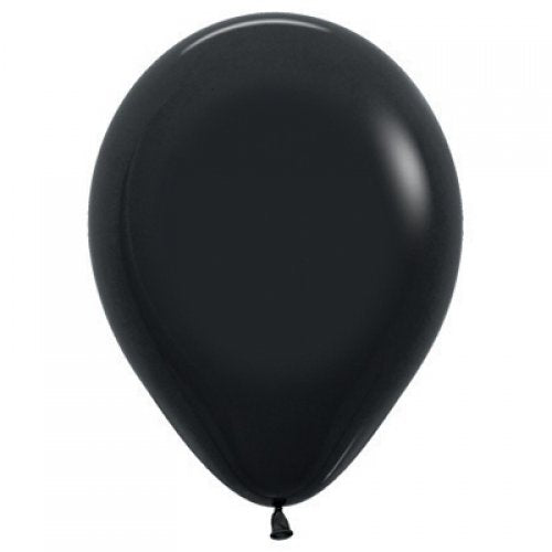 Black 30cm Colored Balloons
