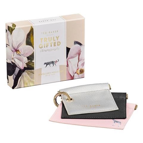 Ted Baker Jewellery Pouches Set 3Pce