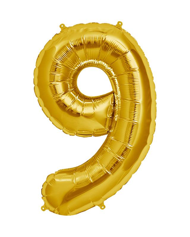 86cm Gold Number Balloons