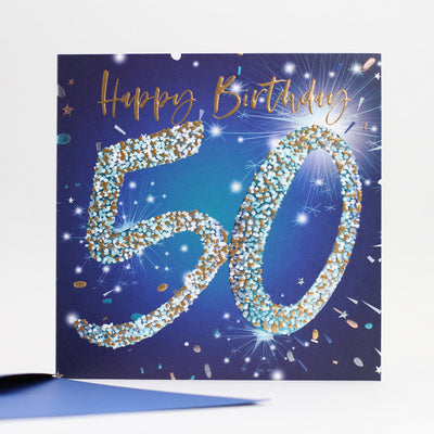 50th Birthday - Blue