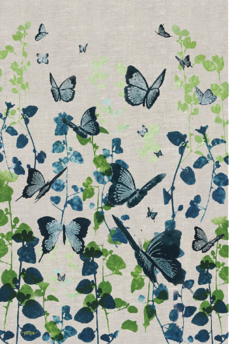 Tea Towel – Butterflies 1 Dark