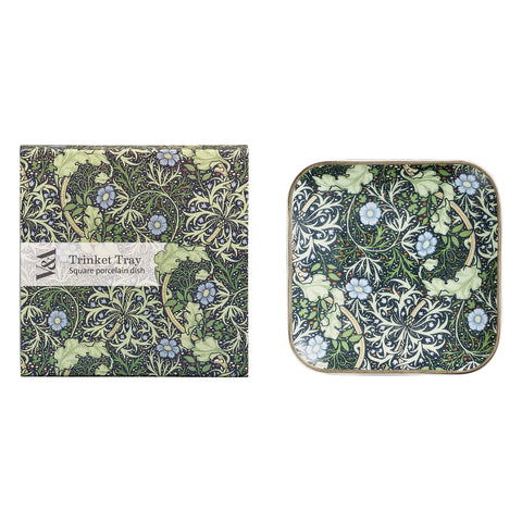 Square Trinket Tray - Seaweed