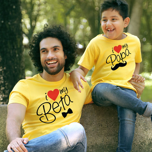 I Love My Beta/Papa, Matching Tees For Dad And Son