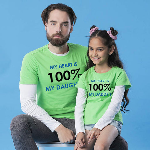 100% Daddy's/Daughters Tees