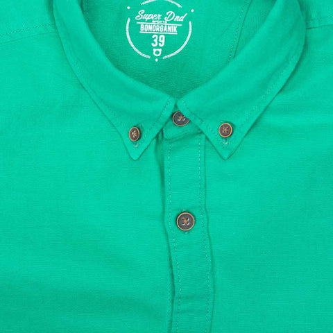 Father Son Button down Collar full sleeve Green shirt