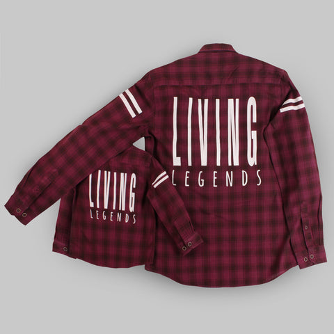 Living Legends Maroon Full Sleeve Shirt For Father-Son
