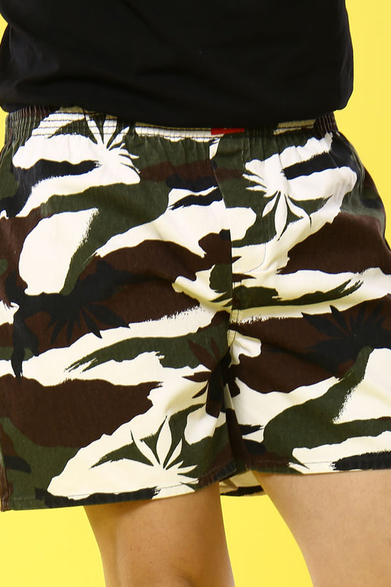Camouflage Print Cotton Boxers For Men