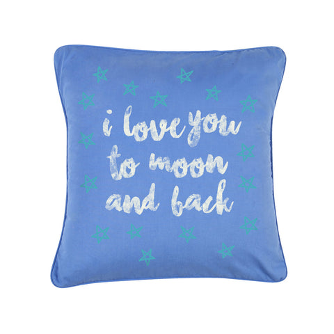 "Love You To The Moon,Pillow Cushion Cover Set of 2(16"" X  16"")"