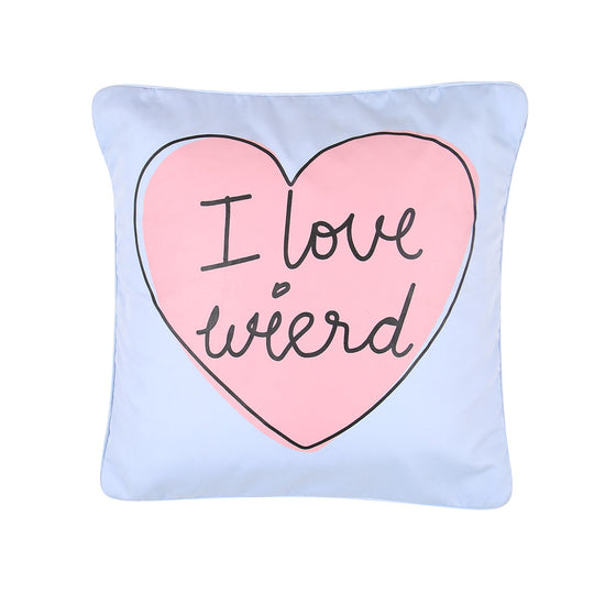 "I Am Weird, Pillow Cushion Cover Set of 2(16"" X  16"")"