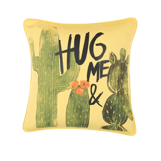 "Hug And Kiss Me, Pillow Cushion Cover Set of 2(16"" X 16"")"