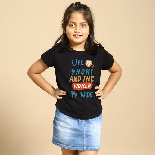 Life Is Short, Matching Travel Tees For Girl