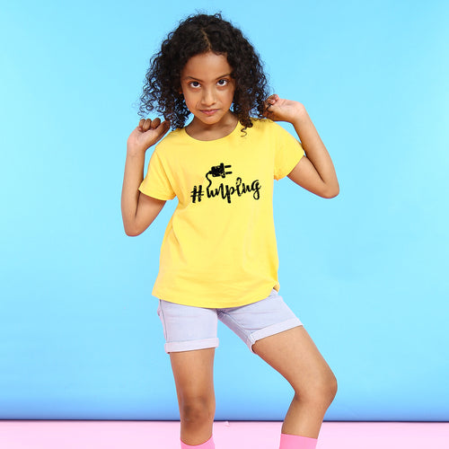 Unplug, Matching Travel Tees For Girl