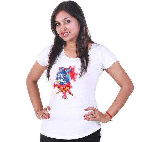 Holi Hai Couple Tees For Women