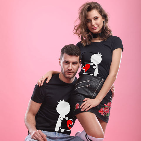 Puzzle Art Couple Tees