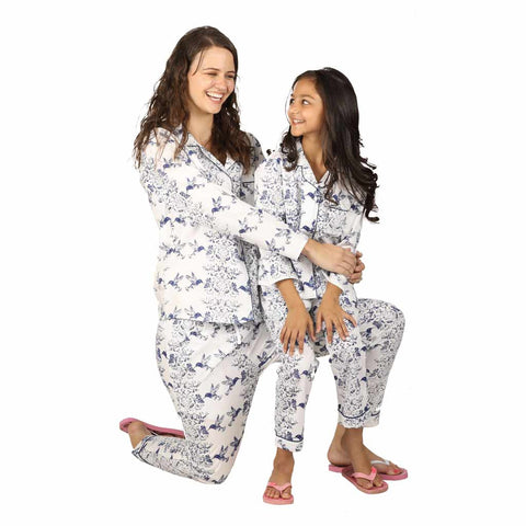 Birds Of Paradise Sleepwear Set For Mom & Daughter
