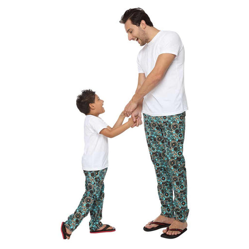 Mechanical Abstract Dad and Son Matching Pyjamas