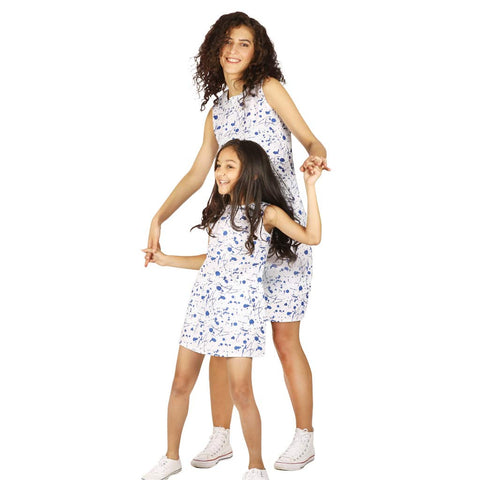splash print shift dress for mom daughter