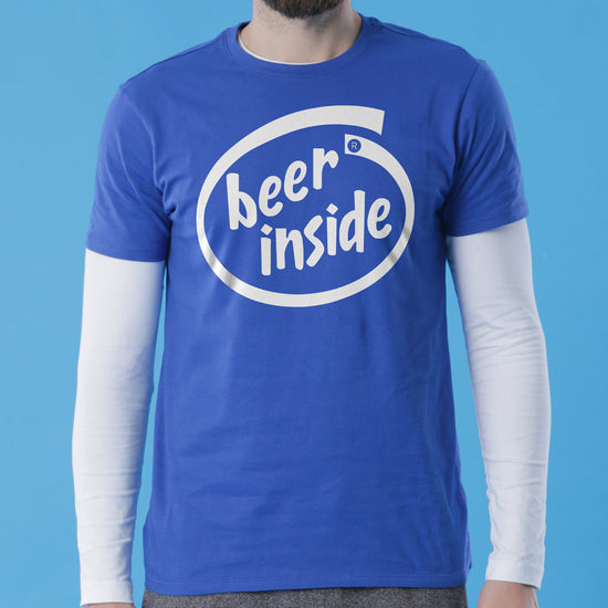 Royal Blue Beer Inside Father-Son Tees
