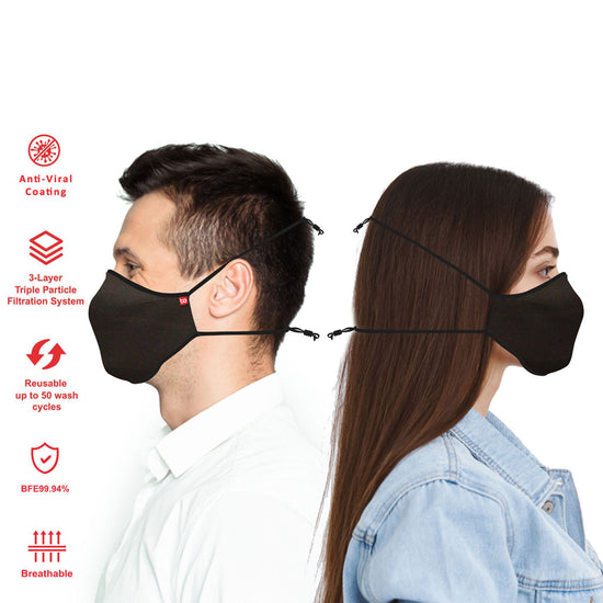 Pack Of-10 Unisex Adults Anti-viral Reusable Mask