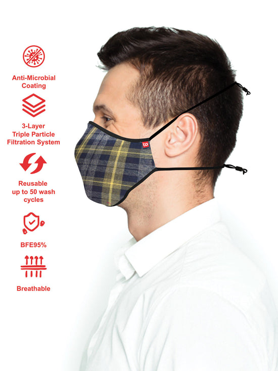 Adults Anti-Microbial Reusable mask ADM11 ( Set Of 3)