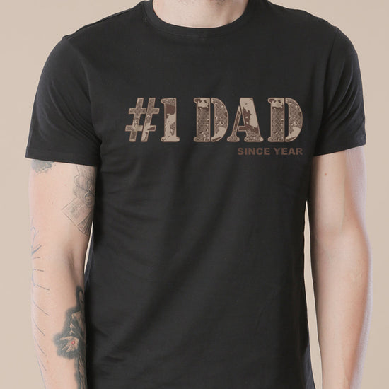 #1 Dad, Personalized Tee For Dad