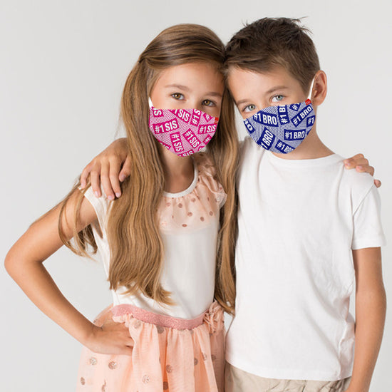 #1Sis & #1Bro Matching Protective Mask For Siblings ( Set Of 2)
