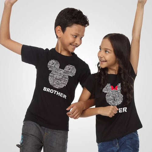 Mickey/ Minnie Logo, Matching Disney Tees For Siblings