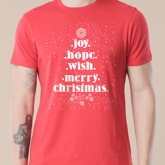 Joy, Hope, Wish Family Tees