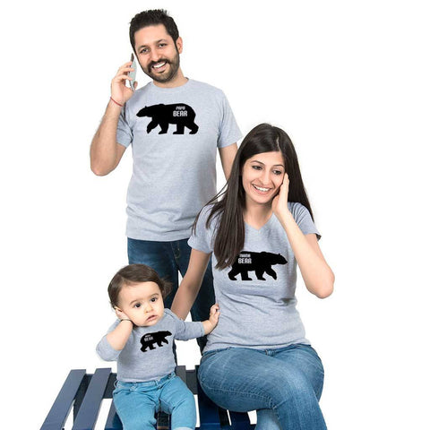 The bear Family bodysuit and Tees