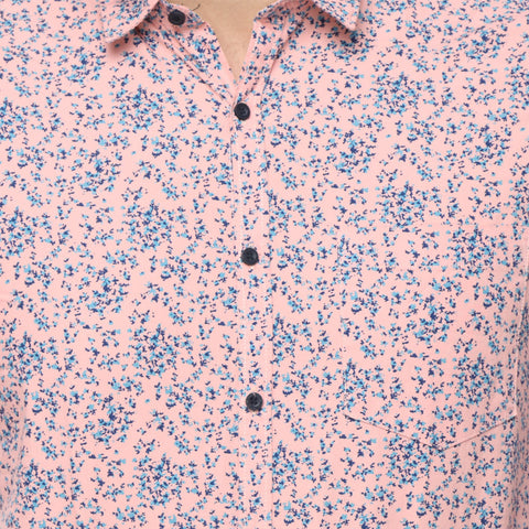 Floral  Print Full Sleeve Shirt For Father-Son