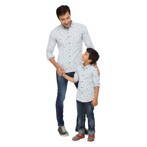 Around the World Dad and Son Shirt