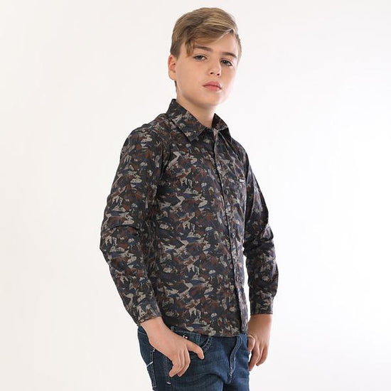 Army Print, Full Sleeves Shirts For Boy
